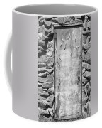 Old Wood Door  And Stone - Vertical Bw Coffee Mug