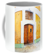 Old Wood Door Arch And Shutters Coffee Mug