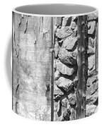 Old Wood Door Window And Stone In Black And White Coffee Mug