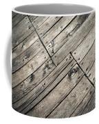 Old Wooden Boards Nailed Coffee Mug