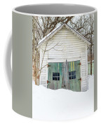 Old Wooden Garage In The Snow Woodstock Vermont Coffee Mug