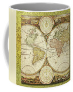 Old World Map On Gold Coffee Mug