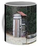 Oldtime Outhouse - Digital Art Coffee Mug