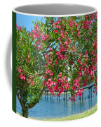 Oleander On Melbourne Harbor In Florida Coffee Mug