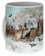 Olenka And Kmicic In A Sleigh, 1885 Coffee Mug