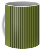 Olive Green Striped Pattern Design Coffee Mug