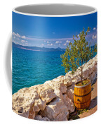 Olive Tree In Barrel By The Sea Coffee Mug
