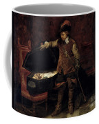 Oliver Cromwell Opening The Coffin Of Charles I  Coffee Mug