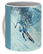 Olympic Downhill Skier Coffee Mug