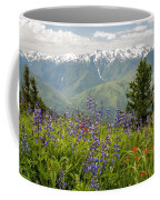 Olympic Mountain Wildflowers Coffee Mug