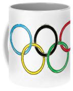 Olympic Rings Pencil Coffee Mug