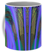 Olympic Torch And Fireworks Fractal 162 Coffee Mug
