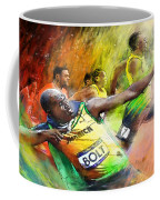 Olympics 100 M Gold Medal Usain Bolt Coffee Mug