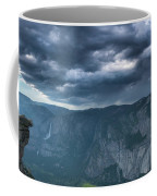 Ominous Clouds Over Glacier Point Coffee Mug