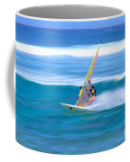 On A Calm Blue Ocean Coffee Mug