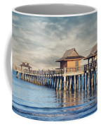 On A Cloudy Day At Naples Pier Coffee Mug