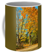 On A Country Road 5 - Paint Coffee Mug