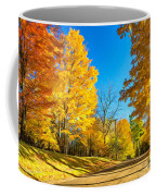 On A Country Road 6 - Paint Coffee Mug