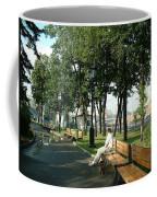 On A Moscow Bench Coffee Mug