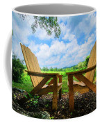 On A Pretty Summer Day Oil Painting Coffee Mug