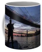 On Duty By Brooklyn Bridge New York Coffee Mug