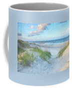 On The Beach Watercolor Coffee Mug by Randy Steele