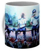On The Bench Coffee Mug by Hanne Lore Koehler