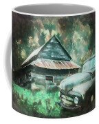 On The Edge Of The Green Mountains Painting Coffee Mug