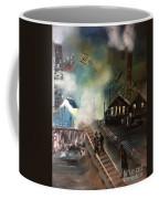 On The Pennsylvania Tracks Coffee Mug by Denise Tomasura