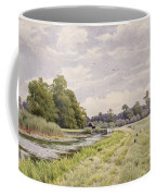 On The River Ouse Hemingford Grey Coffee Mug by William Fraser Garden