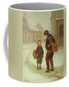 On The Way To School In The Snow Coffee Mug