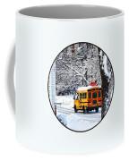 On The Way To School In Winter Coffee Mug