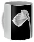 One Beautiful Calla Lily In Black And White Coffee Mug