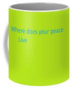One Hard Question Coffee Mug