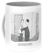 One Man At Work Thanks The Other For Taking The Blame Coffee Mug