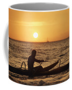 One Man Canoe Coffee Mug