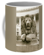 One Of Four Lion Statues Outside St George's Hall Liverpool Coffee Mug