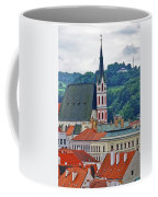 One Of The Churches In Cesky Kumlov In The Czech Republic Coffee Mug