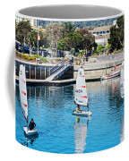 One-person Sailboats By The Commercial Pier In Monterey-california Coffee Mug