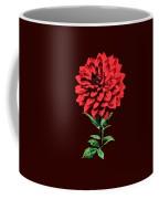 One Red Dahlia Coffee Mug
