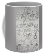 One Thru Nine Drawing Coffee Mug