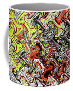 One Version Yellow And Red Abstract Coffee Mug