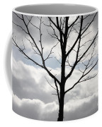 One Winter Tree With Clouds Coffee Mug