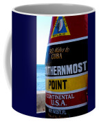 Only 90 Miles To Cuba Coffee Mug