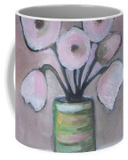 Only White Flowers Coffee Mug