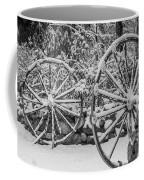 Oo Wagon Wheels Black And White Coffee Mug