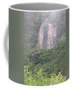 Opaekaa Falls On Kauai During A Storm Coffee Mug