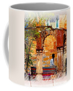 Open Air Bed Among The Arches India Rajasthan 1a Coffee Mug