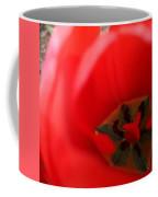 Open Red Tulip Coffee Mug