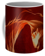 Orange Abstract At Upper Antelope Coffee Mug
